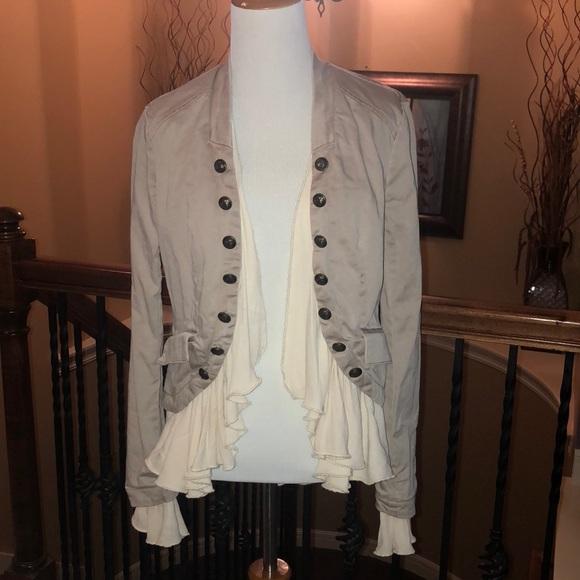 Free People Jackets & Blazers - Free People Ruffles Romance Military Jacket